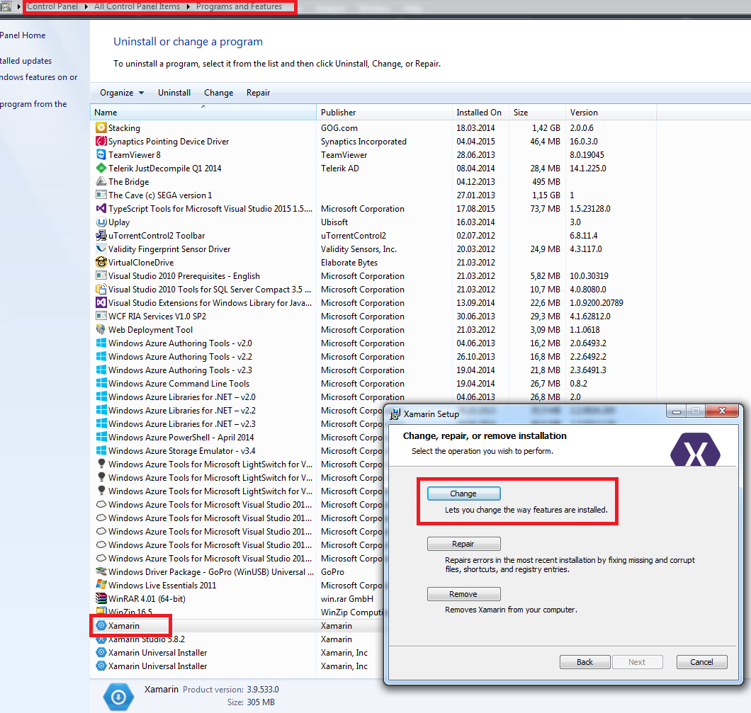 Xamarin Install For Visual Studio 2015
